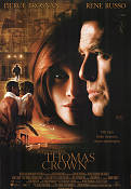 The Thomas Crown Affair 1999 Movie poster Pierce Brosnan