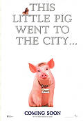 Babe Pig in the City 1998 Movie poster George Miller