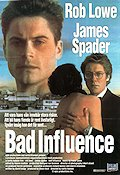 Bad Influence 1990 Movie poster Rob Lowe Curtis Hanson