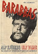 Barabbas 1953 Movie poster Ulf Palme Alf Sj�berg