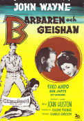 The Barbarian and the Geisha 1958 poster John Wayne John Huston
