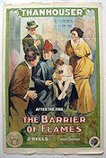 The Barrier of Flames 1914 Movie poster Philip Lonergan
