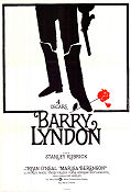 Barry Lyndon 1975 Movie poster Ryan O'Neal Stanley Kubrick
