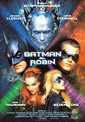 Batman and Robin 1997 Movie poster Arnold Schwarzenegger