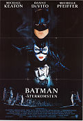 Batman Returns 1992 Movie poster Michael Keaton Tim Burton