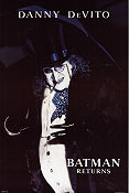Batman Returns 1992 poster Danny de Vito Tim Burton