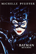 Batman Returns 1992 poster Michelle Pfeiffer Tim Burton
