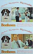 Beethoven 1992 lobby card set Charles Grodin