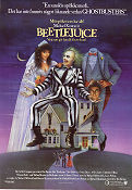 Beetlejuice 1988 Movie poster Michael Keaton Tim Burton
