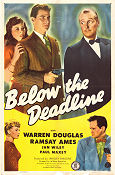 Below the Deadline 1946 Movie poster Warren Douglas