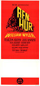 Ben-Hur 1962 Movie poster Charlton Heston William Wyler
