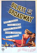 Two Tickets to Broadway 1952 poster Tony Martin