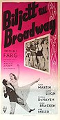 Two Tickets to Broadway 1952 poster Janet Leigh