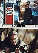 Black Rain 1989 lobby card set Michael Douglas
