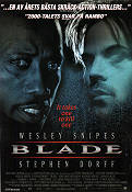Blade 1998 Movie poster Wesley Snipes