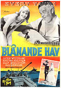 Bl�nande hav 1956 Movie poster Evert Taube