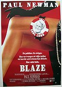 Blaze 1990 Movie poster Paul Newman