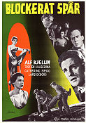 Blockerat sp�r 1955 Movie poster Alf Kjellin Torgny Wickman