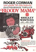 Bloody Mama 1970 Movie poster Shelley Winters Roger Corman