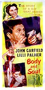 Body and Soul 1953 poster John Garfield