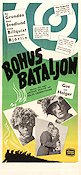 Bohus bataljon 1949 Movie poster Per Grundén