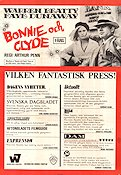Bonnie and Clyde 1967 Movie poster Warren Beatty Arthur Penn