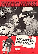 Bonnie and Clyde 1967 poster Warren Beatty