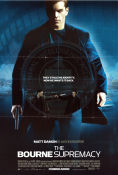 The Bourne Supremacy 2004 poster Matt Damon Paul Greengrass