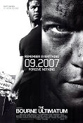 The Bourne Ultimatum 2007 poster Matt Damon Paul Greengrass