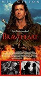 Braveheart 1995 Movie poster Mel Gibson