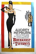 Breakfast at Tiffany's 1961 Movie poster Audrey Hepburn Blake Edwards