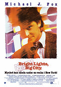 Bright Lights Big City 1988 poster Michael J Fox
