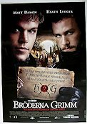 The Brothers Grimm 2005 Movie poster Matt Damon Terry Gilliam