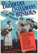 Br�derna �stermans huskors 1945 Movie poster Adolf Jahr Ivar Johansson