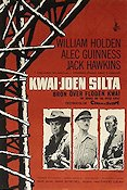 The Bridge on the River Kwai 1957 Movie poster William Holden David Lean