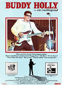 The Buddy Holly Story 1978 Movie poster Gary Busey