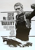 Bullitt 1968 Movie poster Steve McQueen Peter Yates