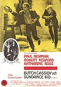 Butch Cassidy and the Sundance Kid 1969 Movie poster Paul Newman George Roy Hill