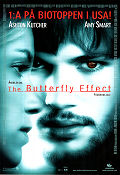 The Butterfly Effect 2004 Movie poster Ashton Kutcher