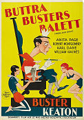 Free and Easy 1930 Movie poster Buster Keaton Edward Sedgwick