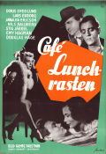 Café Lunchrasten 1954 Movie poster Lars Ekborg