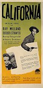 California 1947 Movie poster Ray Milland