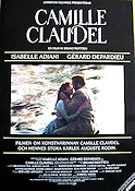 Camille Claudel 1989 Movie poster Isabelle Adjani