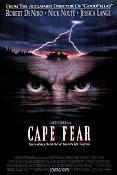 Cape Fear 1991 Movie poster Robert De Niro Martin Scorsese