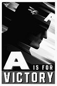 Litho A IS FOR VICTORY Captain America No 78 of 155 2011 poster