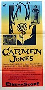 Carmen Jones 1955 Movie poster Harry Belafonte Otto Preminger