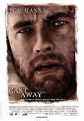 Cast Away 2000 Movie poster Tom Hanks Robert Zemeckis