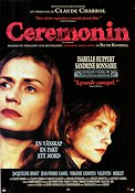 La cérémonie 1995 Movie poster Isabelle Huppert Claude Chabrol