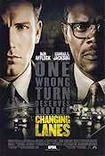 Changing Lanes 2002 Movie poster Samuel L Jackson