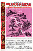 Cheyenne Autumn 1964 Movie poster Richard Widmark John Ford